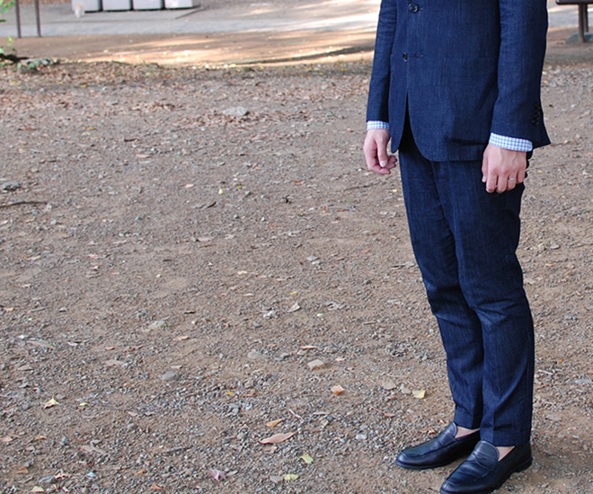 デニムスーツ